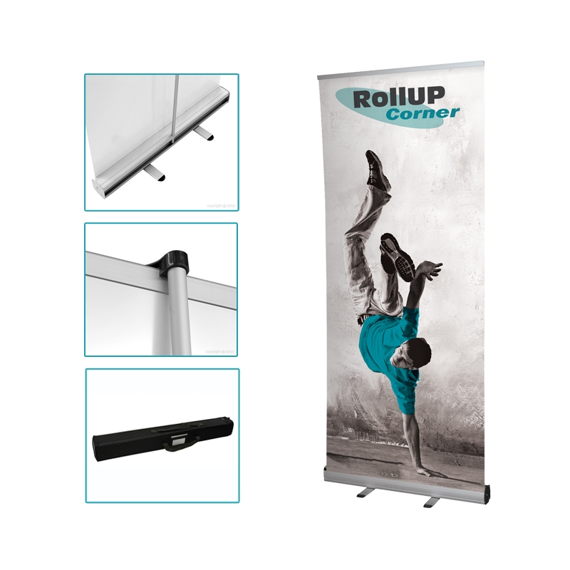 Roll up 85x200 rollup 85x200 plv impression rollup for Kakemono stand