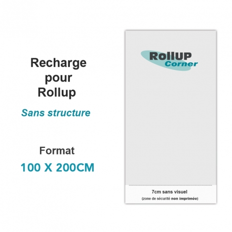 Recharge Rollup 100x200cm